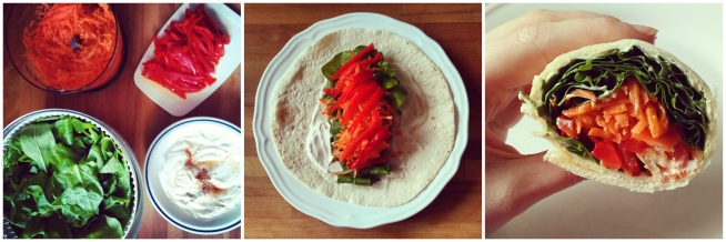 Lentewrap 5: veggie & geitenkaas